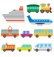 Cartoon vehicles vector image