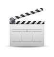 clapper board white cinema clapper vector image