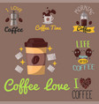 Coffee badge food design hand drawn calligraphic