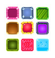 colorful gems flash game element templates design vector image vector image