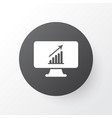 computer analytics icon symbol premium quality vector image