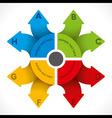 creative colorful arrow info-graphics design vector image vector image