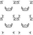 deer anller pattern vector image vector image