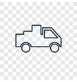 delivery truck concept linear icon isolated on vector image vector image