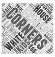 Easter on the White House Lawn Word Cloud Concept vector image vector image