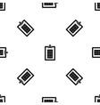 game plan pattern seamless black vector image vector image