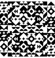 geometric abstract pattern black and white vector image vector image