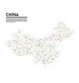 geometric simple minimalistic style china map vector image