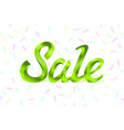 green metal lettering sale price offer deal vector image