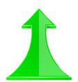 green up arrow vector image vector image