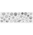 hand drawn dandelion doodle set vector image vector image