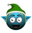happy christmas elf emoji vector image