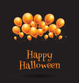 happy halloween balloon background 0609 vector image vector image