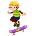 happy monkey playing skateboard vector image vector image
