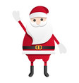 happy santa claus icon cartoon style vector image