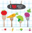 healthy food vegetable diet eat useful vitamin car vector image vector image