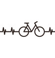 heartbeat bike symbol vector image vector image