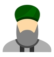 Islamic priest icon flat style vector image