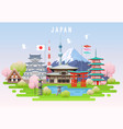 japan spring travel infographic vector image vector image