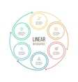 Linear infographis Minimalistic chart diagram vector image vector image