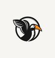 logo bird icon line art picture vector image