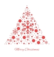 Merry christmas triangular ornament vector image vector image