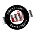 Middle Class rubber stamp vector image vector image