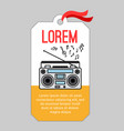 music tag with record player vector image