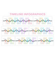 navigation map infographics 3-9 steps timeline vector image