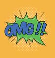 omg wording sound effect vector image vector image
