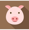 Pig icon flat style vector image vector image