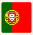 portugal square flag button social media vector image vector image