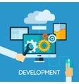 Programm Development Flat vector image vector image