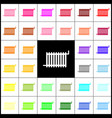 radiator sign felt-pen 33 colorful icons vector image vector image