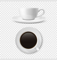 realistic 3d glossy blank white coffee cup vector image vector image