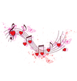 Romantic music background vector image vector image