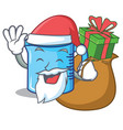 santa with gift measuring cup character cartoon vector image vector image