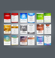 Set flyers and brochures polygonal vector image vector image