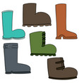 set of boot vector image vector image