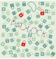 set web icons pudlock and chain seamless vector image