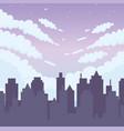 skyline cityscape clouds scene panorama design vector image