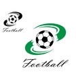 Soccer or football symbol vector image vector image
