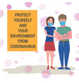 social distancing concept stay at home order vector image vector image