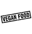 square grunge black vegan food stamp vector image vector image