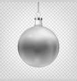 stock christmas ball isolated vector image vector image