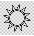 Sun sign Line icon vector image vector image