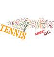 tennis equipment text background word cloud vector image vector image