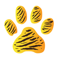 tigerfootprint vector image vector image
