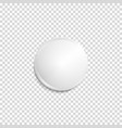 transparent realistic white badge vector image vector image