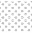 unique digital honeycombs seamless pattern vector image